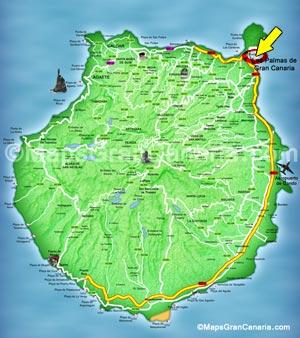 Maps Gran Canaria Las Palmas de Gran Canaria